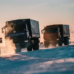 В Арктике успешно прошли испытания беспилотных «КамАЗов»