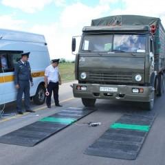 На подходах к Крымскому мосту установили передвижные пункты весогабаритного контроля