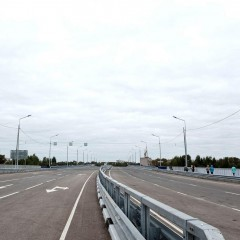 Открыто движение по путепроводу, соединяющему крупный микрорайон с центром Кирова