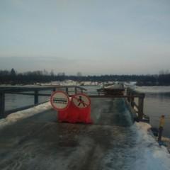 В Архангельской области дрейфующий лед разрушил несколько мостов
