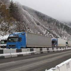 На границе с Грузией скопилось около 260 грузовиков