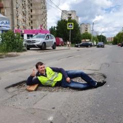 В Рязани начали ремонт «самой большой ямы» в стране