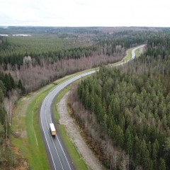 В Карелии отремонтировали подъездную дорогу к пункту пропуска «Вяртсиля»