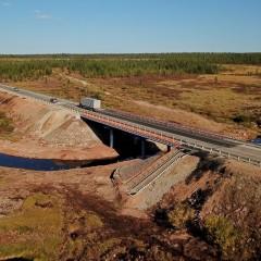 На трассе А-360 в Республике Саха (Якутия) отремонтирован мост через реку Николкин Ключ