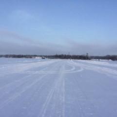 В Архангельске открыли первую ледовую переправу