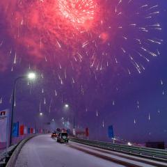 После 40 лет ожидания: в ЯНАО открыли мост через реку Пур