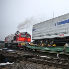 Первый контрейлер отправили из Московской области на Дальний Восток