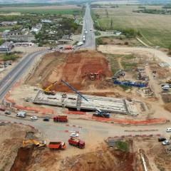 На трассе М-7 «Волга» во Владимирской области идет строительство транспортной развязки