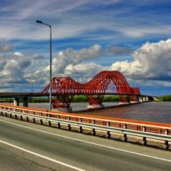 В ХМАО отремонтировали мост «Красный дракон» через реку Иртыш