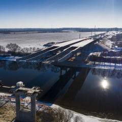 «Автодор» о ходе строительства моста через реку Москва на ЦКАД-4: темп хороший