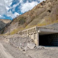На Транскавказской автомагистрали отремонтируют противолавинную галерею