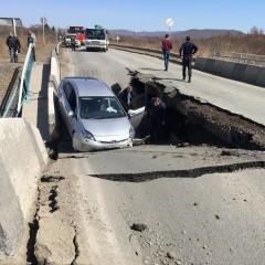 В Шкотовском районе Приморского края частично обрушился мост