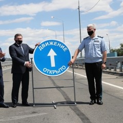 Под Волгоградом после 8 лет строительства открыли мост через реку Ахтубу