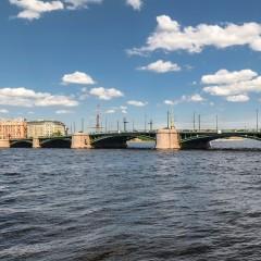 Биржевой мост в Санкт-Петербурге закроют на ремонт в августе 2021 года
